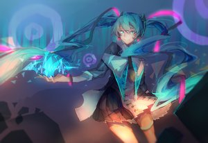 Rating: Safe Score: 36 Tags: hatsune_miku long_hair qi_he_ye twintails vocaloid User: luckyluna