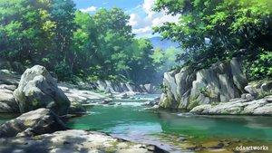 Rating: Safe Score: 44 Tags: clouds nobody odaartworks original scenic sky tree waifu2x water watermark User: RyuZU