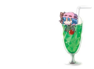 Rating: Safe Score: 27 Tags: blue_hair cat_smile cherry chibi drink food fruit hat noai_nioshi remilia_scarlet touhou vampire white wings User: Dust