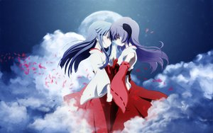 Rating: Safe Score: 61 Tags: clouds furude_rika hanyuu higurashi_no_naku_koro_ni horns japanese_clothes miko User: connardman