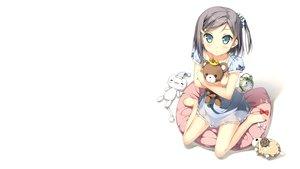 Rating: Safe Score: 108 Tags: animal blue_eyes blush dress gray_hair hentai_ouji_to_warawanai_neko kantoku photoshop ponytail see_through sheep short_hair teddy_bear tsutsukakushi_tsukiko white User: Dummy