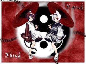 Rating: Safe Score: 22 Tags: animal_ears black_eyes black_hair catgirl dress red red_eyes short_hair umbrella User: Oyashiro-sama