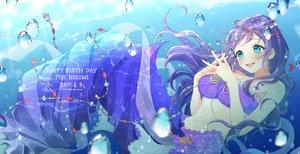 Rating: Safe Score: 18 Tags: azuma_(no488888) blue_eyes headdress long_hair love_live!_school_idol_project purple_hair toujou_nozomi underwater water User: FormX