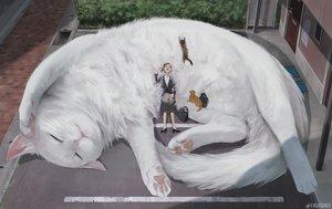 Rating: Safe Score: 30 Tags: animal arizuka_(13033303) cat original watermark User: sadodere-chan