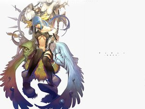 Rating: Safe Score: 46 Tags: blue_hair choker dizzy guilty_gear long_hair necro_(guilty_gear) no_bra red_eyes skull thighhighs twintails underboob undine_(guilty_gear) white wings User: Kunimura
