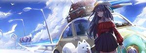 Rating: Safe Score: 35 Tags: animal clouds dog haowei_wu long_hair original sky User: Dreista