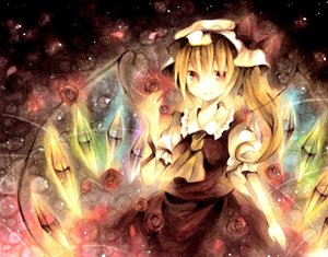 Rating: Safe Score: 128 Tags: blonde_hair dress flandre_scarlet flowers hat polychromatic red_eyes rose touhou vampire wings wiriam07 User: PAIIS