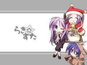 Rating: Safe Score: 3 Tags: christmas hat hiiragi_kagami hiiragi_tsukasa izumi_konata lucky_star santa_costume santa_hat User: Oyashiro-sama