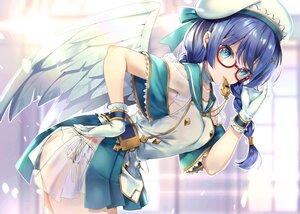 Rating: Safe Score: 66 Tags: angel aqua_eyes blue_eyes blush bow braids feathers gabriel_(isepapa) glasses gloves hane_yuki hat isekai_no_papa panties ribbons see_through twintails underwear wings User: BattlequeenYume