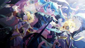 Rating: Safe Score: 14 Tags: hatsune_miku hiro_chikyuujin kagamine_len kagamine_rin male vocaloid User: FormX