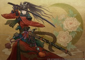 Rating: Safe Score: 107 Tags: animal_ears catgirl final_fantasy final_fantasy_xiv gloves katana long_hair miqo'te ponytail samurai square_enix sword tagme_(artist) tail watermark weapon User: SciFi