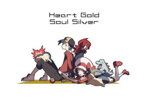 Rating: Safe Score: 39 Tags: chikorita cyndaquil domu_(hamadura) gold_(pokemon) kotone_(pokemon) male pokemon silver totodile User: FormX
