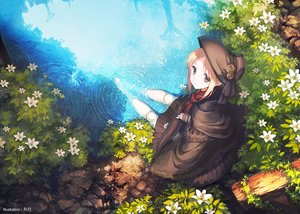 Rating: Safe Score: 193 Tags: animal barefoot blonde_hair bloodborne doll fish flowers hat leaves ritsuki the_doll water yellow_eyes User: Flandre93