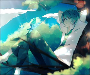 Rating: Safe Score: 45 Tags: achiki aqua_eyes aqua_hair butterfly clouds original tie tree User: MissBMoon