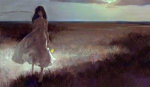 Rating: Safe Score: 107 Tags: barefoot dark dress flowers grass original tentsu User: FormX
