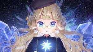 Rating: Safe Score: 23 Tags: aqua_eyes blonde_hair close glasses hat livly_island loli long_hair momoshiki_tsubaki stars User: otaku_emmy