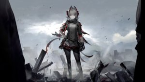 Rating: Safe Score: 37 Tags: arknights cape game_cg gloves gray_hair gun horns liduke orange_eyes pantyhose polychromatic ruins short_hair w_(arknights) weapon User: Nepcoheart