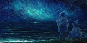 Rating: Safe Score: 74 Tags: blue nomiya_(no_38) original scenic sky stars water User: Flandre93