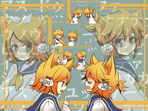 Rating: Safe Score: 12 Tags: animal_ears catboy catgirl kagamine_len kagamine_rin male vocaloid User: HawthorneKitty