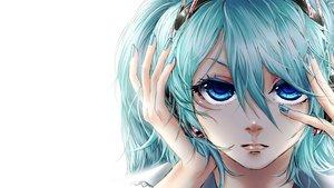 Rating: Safe Score: 6 Tags: akiakane close hatsune_miku migikata_no_chou_(vocaloid) vocaloid white User: mattiasc02