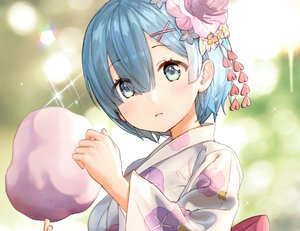 Rating: Safe Score: 53 Tags: aqua_eyes aqua_hair blush candy close cropped flowers gio_(maroon0924) japanese_clothes rem_(re:zero) re:zero_kara_hajimeru_isekai_seikatsu short_hair waifu2x yukata User: otaku_emmy