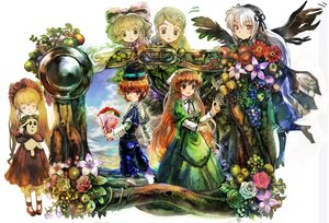 Rating: Safe Score: 48 Tags: bicolored_eyes boots bow butterfly flowers food hat hina_ichigo kanaria rozen_maiden shinku souseiseki suigintou suiseiseki thighhighs twins ultimate_asuka wings User: PAIIS