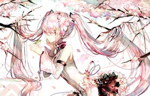 Rating: Safe Score: 98 Tags: animal bird cherry_blossoms hatsune_miku long_hair pink_eyes pink_hair polychromatic rooseputo_02 sakura_miku tree twintails vocaloid User: luckyluna