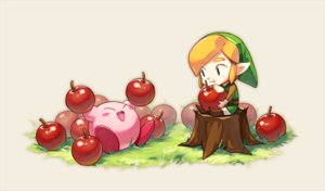 Rating: Safe Score: 21 Tags: all_male anny99943 apple black_eyes blonde_hair boots food fruit grass hat kirby kirby_(character) link_(zelda) male pointed_ears short_hair the_legend_of_zelda waifu2x User: otaku_emmy