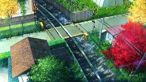 Rating: Safe Score: 88 Tags: building city grass niko_p nobody original scenic signed train tree User: RyuZU