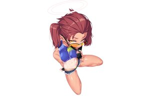 Rating: Safe Score: 22 Tags: aliasing bikini blue_archive dev gloves halo mask pointed_ears red_hair short_hair shorts skintight spread_legs sunglasses swimsuit tagme_(character) tan_lines twintails white yellow_eyes User: otaku_emmy