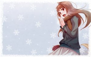 Rating: Safe Score: 185 Tags: animal_ears brown_hair horo ookami_to_koushinryou red_eyes snow tail winter User: Pilop