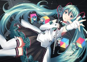 Rating: Safe Score: 17 Tags: aqua_eyes aqua_hair bow chibi elbow_gloves gloves hachune_miku hatsune_miku long_hair magical_mirai_(vocaloid) microphone n2_(yf33) skirt thighhighs twintails vocaloid User: RyuZU
