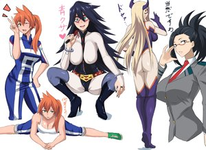 Rating: Safe Score: 21 Tags: aliasing aqua_eyes ass black_eyes black_hair blue_hair blush bodysuit boku_no_hero_academia breasts cleavage glasses green_eyes horns kendou_itsuka long_hair midnight_(boku_no_hero_academia) orange_hair ponytail seifuku skintight spread_legs takara_joney tie yaoyorozu_momo User: RyuZU