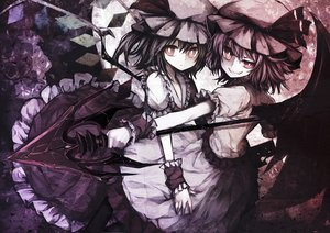 Rating: Safe Score: 194 Tags: 2girls dress flandre_scarlet hat polychromatic remilia_scarlet ribbons sea_(lordofk) spear touhou vampire weapon wings User: luckyluna
