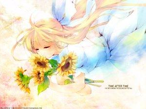 Rating: Safe Score: 9 Tags: air flowers kamio_misuzu sunflower User: Oyashiro-sama