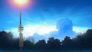 Rating: Safe Score: 29 Tags: animal bird clouds mclelun nobody original scenic sky tree watermark User: RyuZU