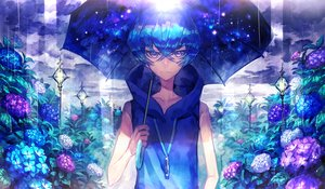 Rating: Safe Score: 74 Tags: 369minmin all_male blue blue_hair flowers male original rain short_hair umbrella water User: Flandre93