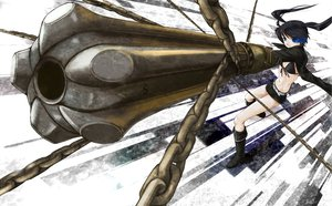 Rating: Safe Score: 22 Tags: black_rock_shooter chain gun kuroi_mato weapon User: HawthorneKitty