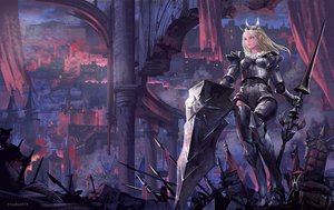 Rating: Safe Score: 38 Tags: armor building crown noba original pixiv_fantasia spear watermark weapon User: FormX