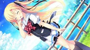 Rating: Safe Score: 23 Tags: alcot blonde_hair game_cg kimi_no_tonari_de_koishiteru! long_hair motomiya_mitsuki seifuku skirt tagme_(character) User: Wiresetc