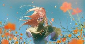 Rating: Safe Score: 38 Tags: blonde_hair bow dress flowers long_hair omutatsu original skirt_lift sky User: Dreista