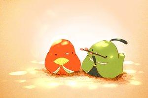 Rating: Safe Score: 63 Tags: animal bird chai_(artist) cherry_blossoms fan original User: otaku_emmy