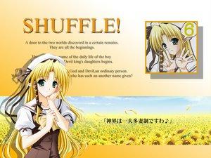 Rating: Safe Score: 6 Tags: blonde_hair bow flowers green_eyes hat kareha long_hair pointed_ears ribbons school_uniform shuffle sunflower suzuhira_hiro User: Oyashiro-sama