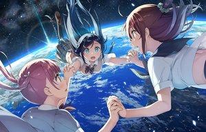Rating: Safe Score: 94 Tags: earth kantoku original planet school_uniform space stars User: RyuZU