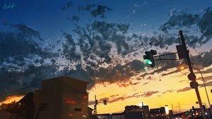 Rating: Safe Score: 43 Tags: banishment building city clouds landscape original scenic signed sky sunset User: Dreista