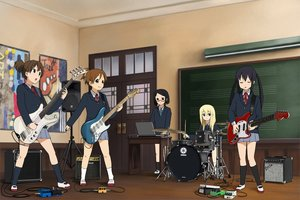 Rating: Safe Score: 14 Tags: black_eyes black_hair blonde_hair brown_hair computer drums glasses group guitar hirasawa_ui instrument kneehighs k-on! long_hair nakano_azusa okuda_nao red_eyes ribbons richard_crazyman saitou_sumire school_uniform short_hair skirt suzuki_jun twintails User: RyuZU