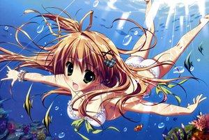 Rating: Safe Score: 116 Tags: bikini blush breasts brown_hair feng hoshizora_e_kakaru_hashi nakatsugawa_ui ryohka scan swimsuit underwater water User: anaraquelk02