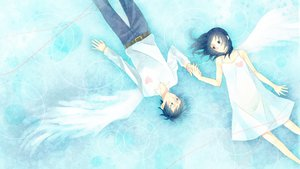 Rating: Safe Score: 32 Tags: dress momoiro_oji water wings User: FormX