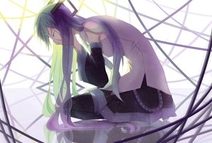 Rating: Safe Score: 20 Tags: hatsune_miku long_hair tears tie twintails vocaloid User: luckyluna