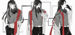 Rating: Safe Score: 30 Tags: all_male black_hair cigarette fate_(series) gloves lalatia-meai long_hair lord_el-melloi_ii lord_el-melloi_ii_case_files male polychromatic scarf shirt suit waver_velvet User: otaku_emmy